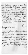 Letter To Voltaire From King Frederick Beach Towel