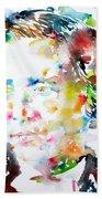 Lewis Carroll - Watercolor Portrait Beach Towel