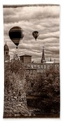 Lewiston Maine Hot Air Balloons Beach Towel