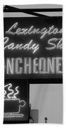 Lexington Candy Shop In Black And White Beach Towel