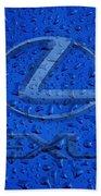 Lexus Rainy Window Visual Art Beach Towel