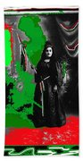Libertad Lady Number 1  Collage C.1880 Tucson Arizona 1880-2005 Beach Towel