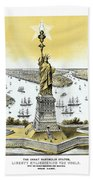Liberty Enlightening The World  Beach Towel by War Is Hell Store
