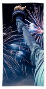 Liberty Fireworks Beach Towel