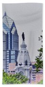Liberty Place And City Hall Beach Towel