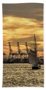 Liberty Sailing  Beach Towel