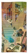 Library Of The Mind Beach Towel