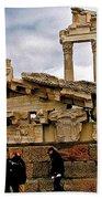 Library On The Pergamum Acropolis-turkey Beach Towel