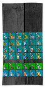 License Plate Art Recycled Periodic Table Of The Elements By Design Turnpike Beach Towel