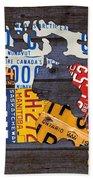License Plate Map Of Canada Beach Sheet