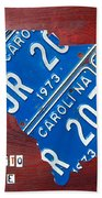License Plate Map Of South Carolina By Design Turnpike Beach Towel