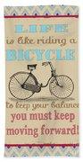 Life-bicycle Beach Towel