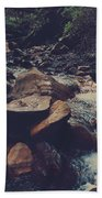 Life Flows On Beach Towel by Laurie Search