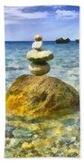 Life In Balance Beach Towel