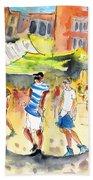 Life In Cartagena 01 Beach Towel