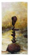 Life Is A Balancing Act Beach Towel