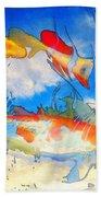 Life Is But A Dream - Koi Fish Art Beach Towel