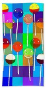 Life Is Full Of Lollipops Beach Towel