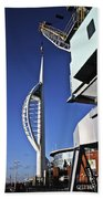 Lifting Portsmouth's Spinnaker Tower Beach Towel