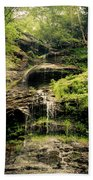 light flow at Cathedral Falls Beach Towel