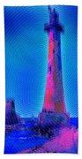 Light House At Sunrise 2 Beach Towel