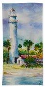 Light House At The Beach Beach Towel