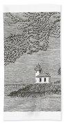 Light House On San Juan Island Lime Point Lighthouse Beach Towel