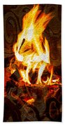 Light My Fire I Beach Towel