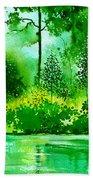 Light N Greens R Beach Towel