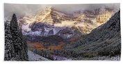 Light On Maroon Bells Beach Towel