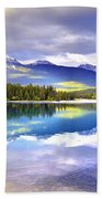 Light Play At Lake Annette Beach Towel