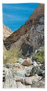 Light Side And Dark Side In Big Painted Canyon In Mecca Hills-ca Beach Towel