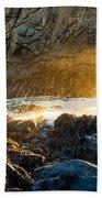 Light The Way - Arch Rock In Pfeiffer Beach In Big Sur. Beach Towel by Jamie Pham
