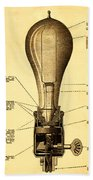 Lightbulb Patent Beach Towel