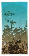 Torquoise Haiku Beach Towel