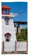 Lighthouse And Bridge Beach Towel