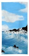 Lighthouse And Sunkers Beach Towel