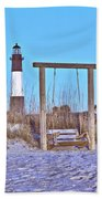 Lighthouse And Swing Beach Towel