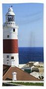 Lighthouse At Europa Point Gibraltar Beach Towel