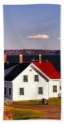 Lighthouse At West Quoddy Head Beach Towel