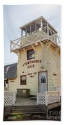 Lighthouse Cafe In North Rustico Beach Towel