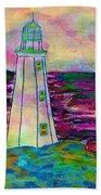 Lighthouse Digital Color Beach Towel
