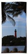 Lighthouse From Afar Beach Towel