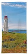 Lighthouse In Louisbourgh-ns Beach Towel