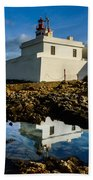 Lighthouse Beach Towel by Marco Oliveira