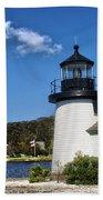 Lighthouse Mystic Seaport Beach Towel