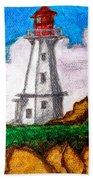 Lighthouse Nova Scotia Beach Towel