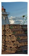 Lighthouse On A Channel By Cascumpec Bay On Prince Edward Island No. 094 Beach Towel