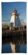 Lighthouse On A Channel By Cascumpec Bay On Prince Edward Island No. 095 Beach Towel