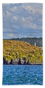 Lighthouse On Brier Island In Digby Neck-ns Beach Towel